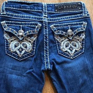 L. A. Idol embellished Jeans boot | size 1 | 27x34